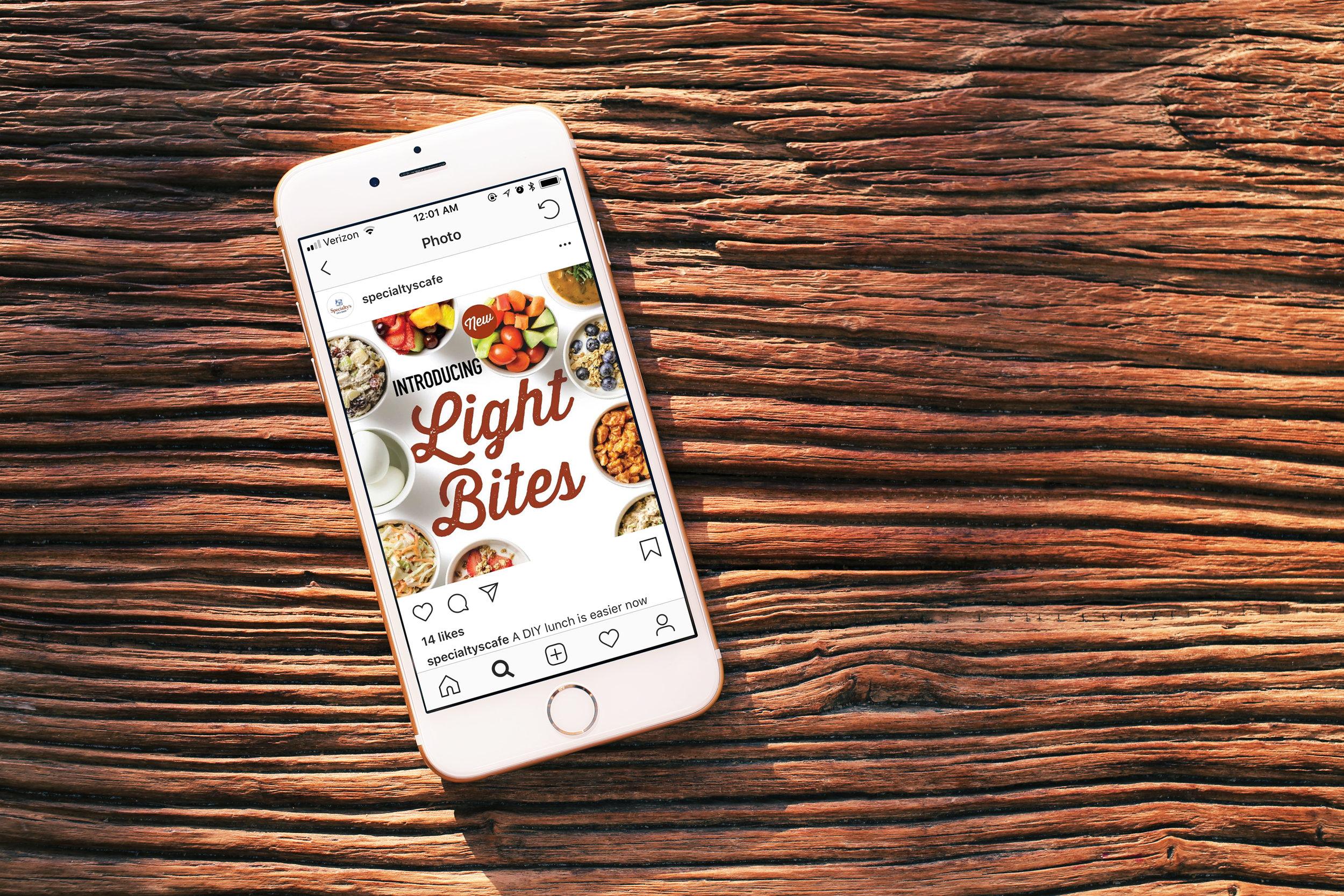 DIY Lunch campaign social media post