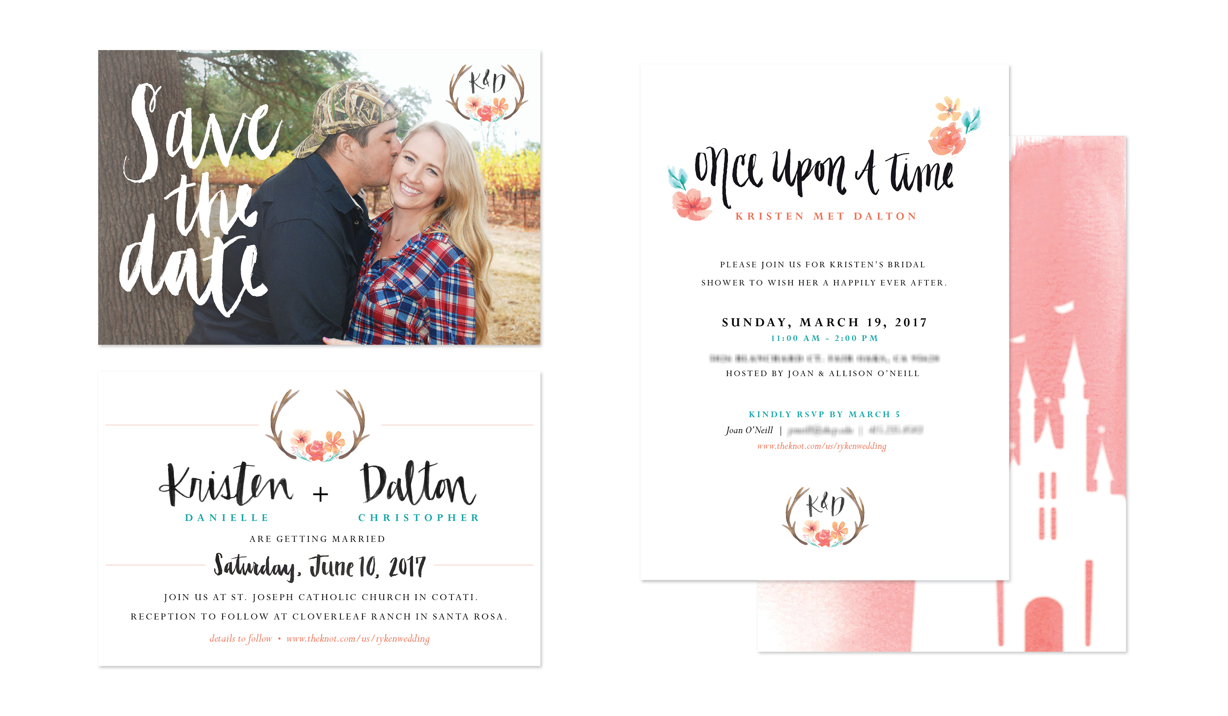 save the date, bridal shower invite