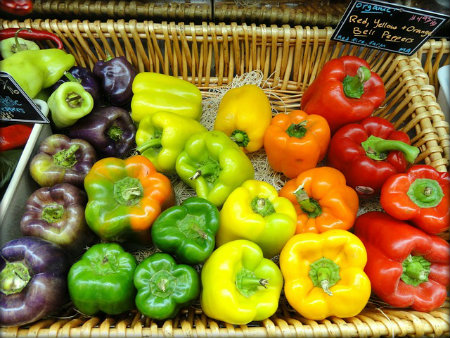 Buying peppers? They'll last for about a week in your fridge. Keep shelf life of produce in mind when buying.