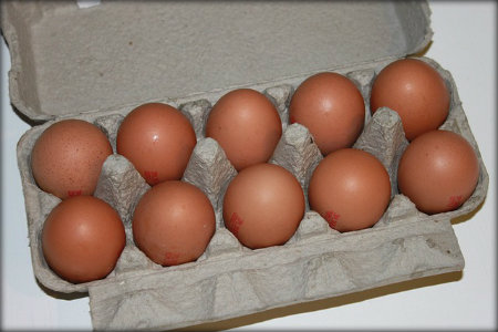 Check eggs and any other perishable food item for the expiration date before purchasing.
