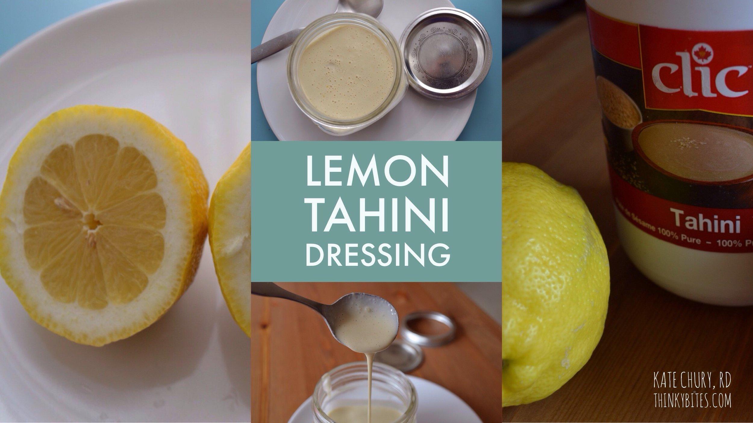 Lemon Tahini Dressing Northwest Calgary Registered Dietitian