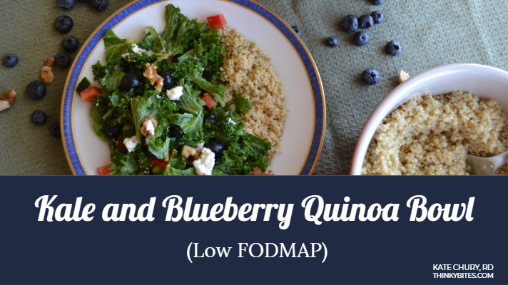 Low Fodmap Salad Kale Blueberry Quinoa