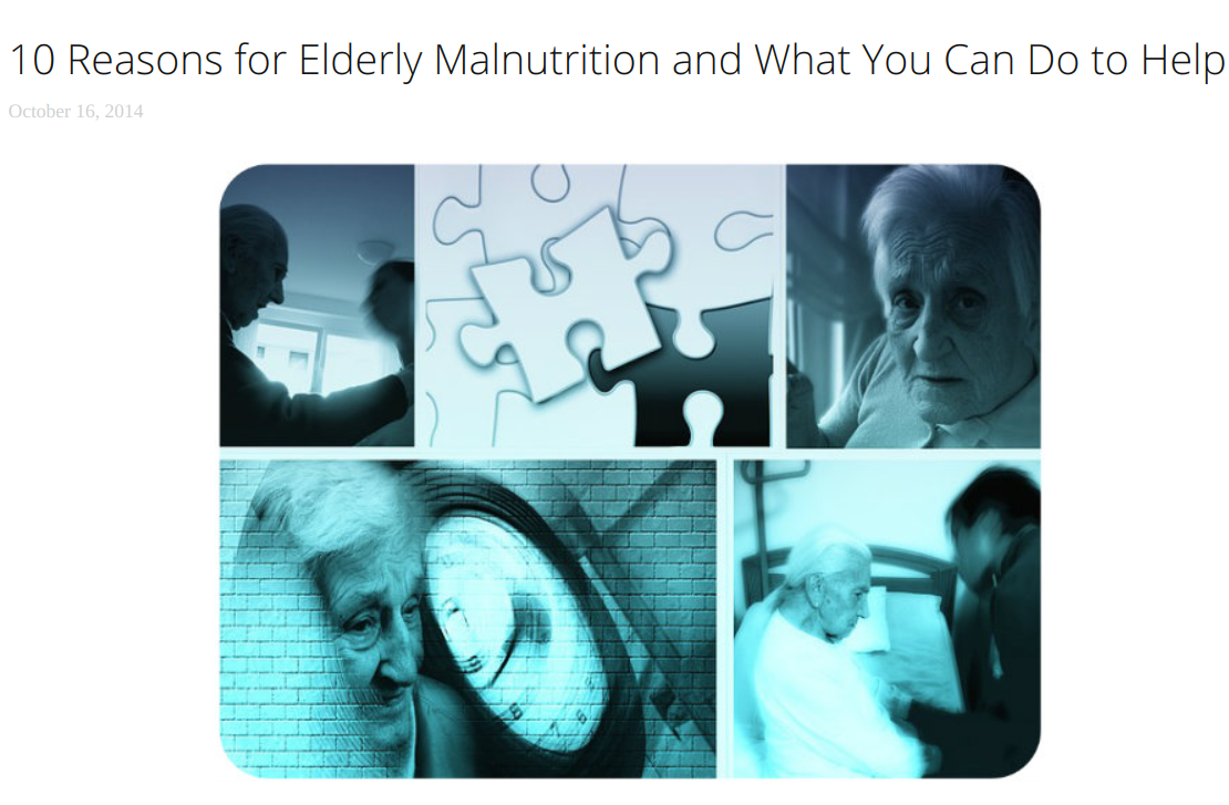 5. - 10 Reasons for Elderly Malnutrition and What you Can Do to Help