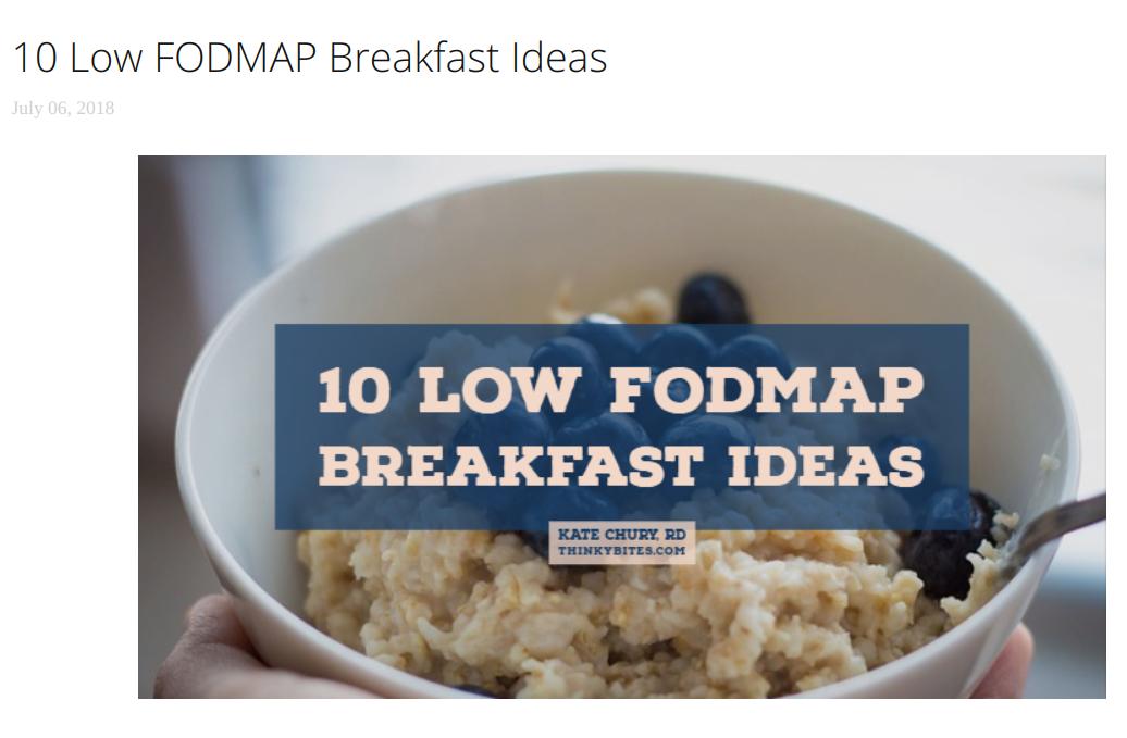 4. - 10 Low FODMAP Breakfast Ideas