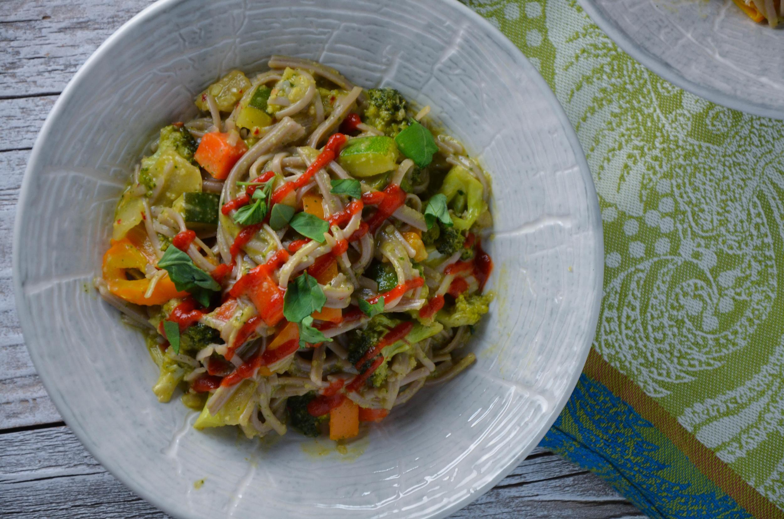 Soba Noodle Thai Basil Stirfry 1