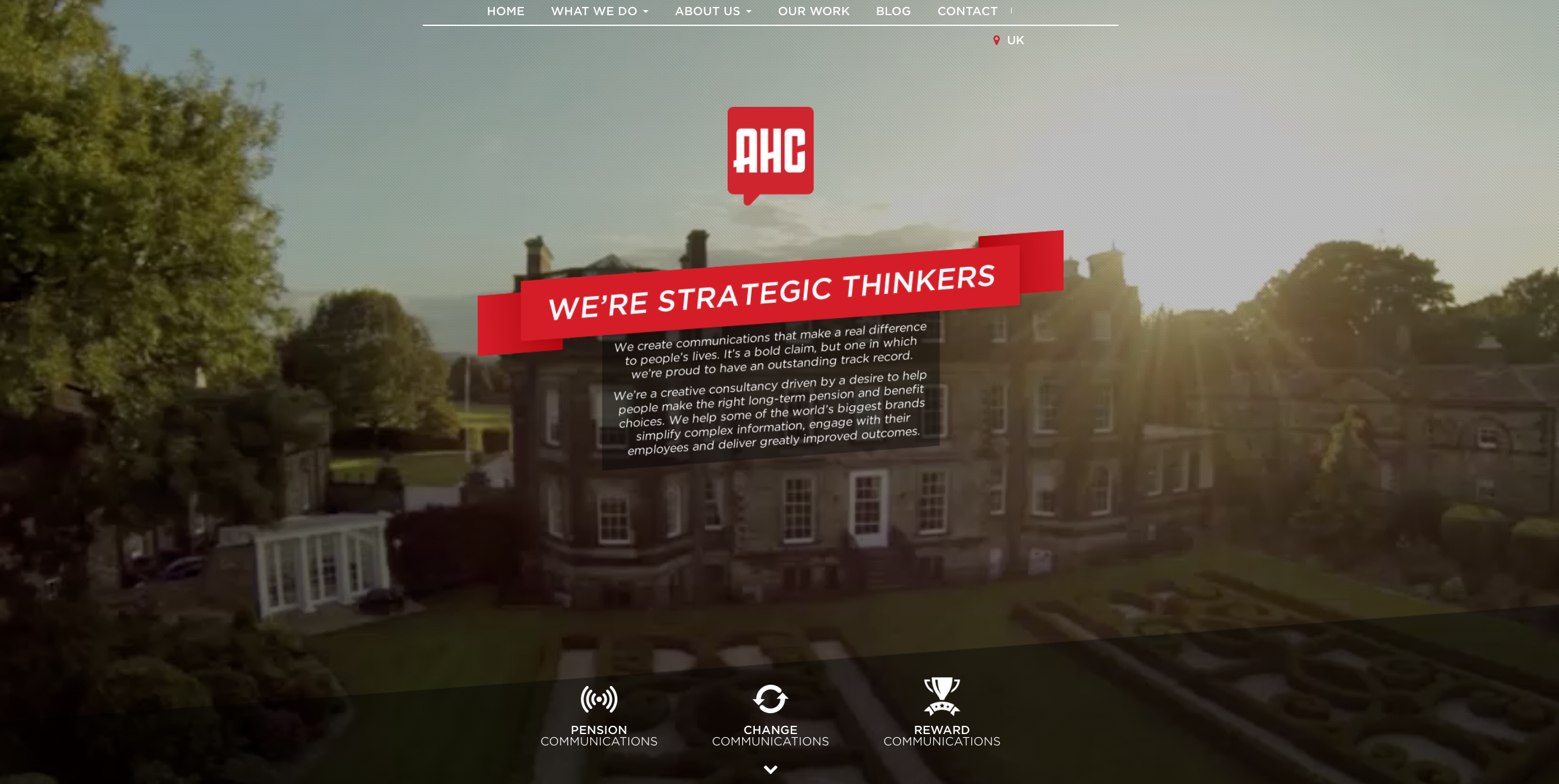 The new AHC website
