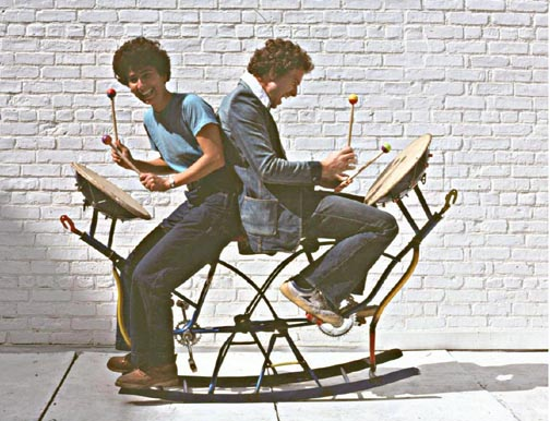 Two Seated Rocking Drum 1977