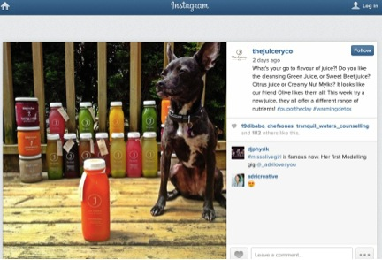The Juicery reaches out to its Instagram followers