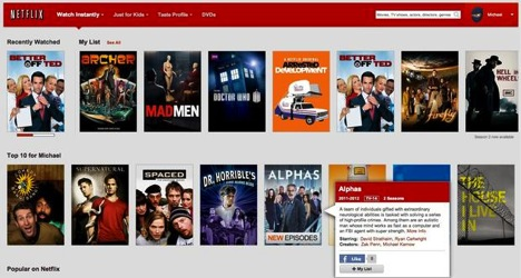 On-demand service from Netflix