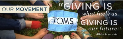TOMS' 'One for One' campaign helping out those in need