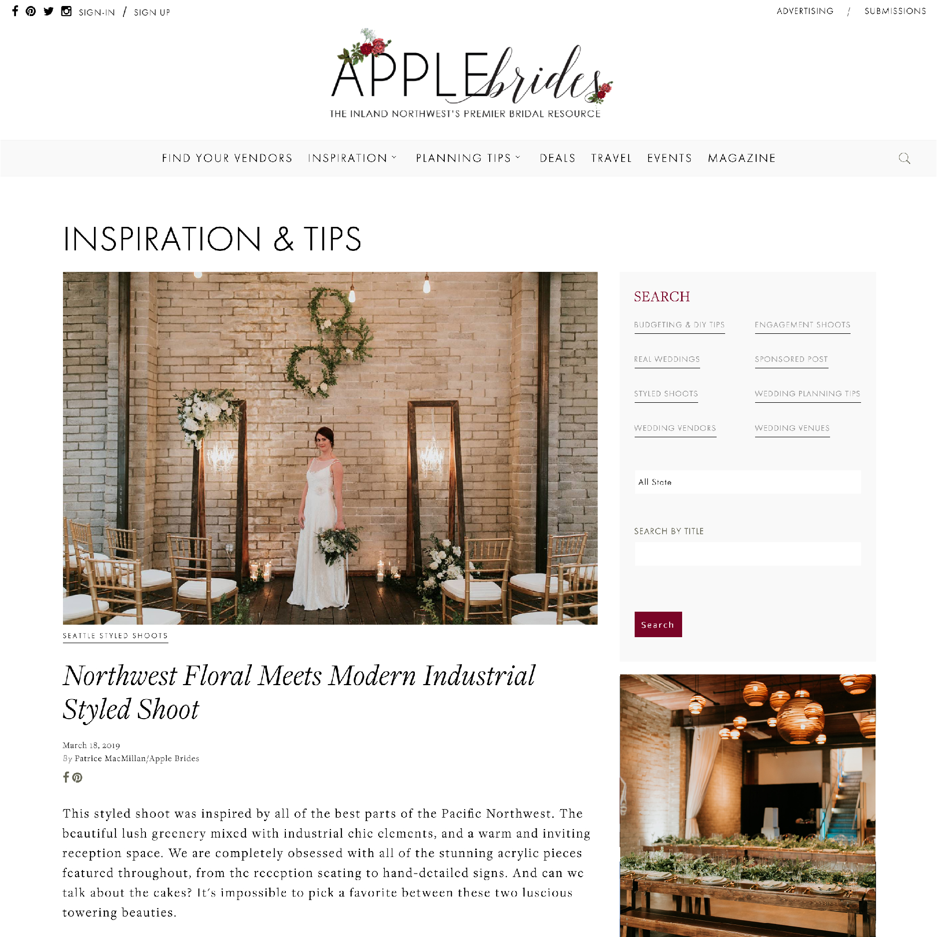 our #dreamteam Featured inApple Brides - see the full article here