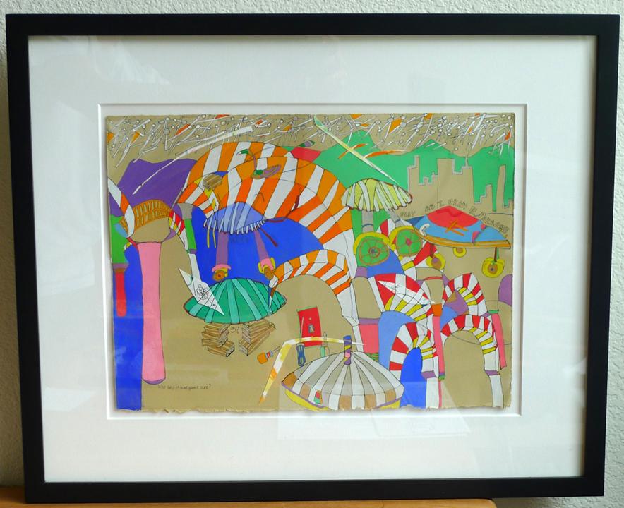 jugando (framed), 2011
