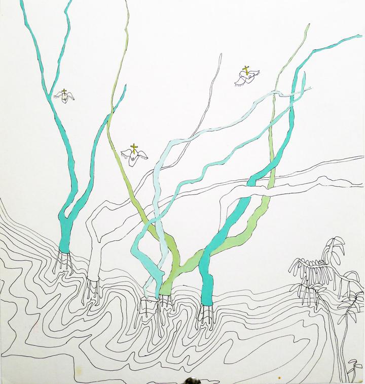 trees in water (work in progress)