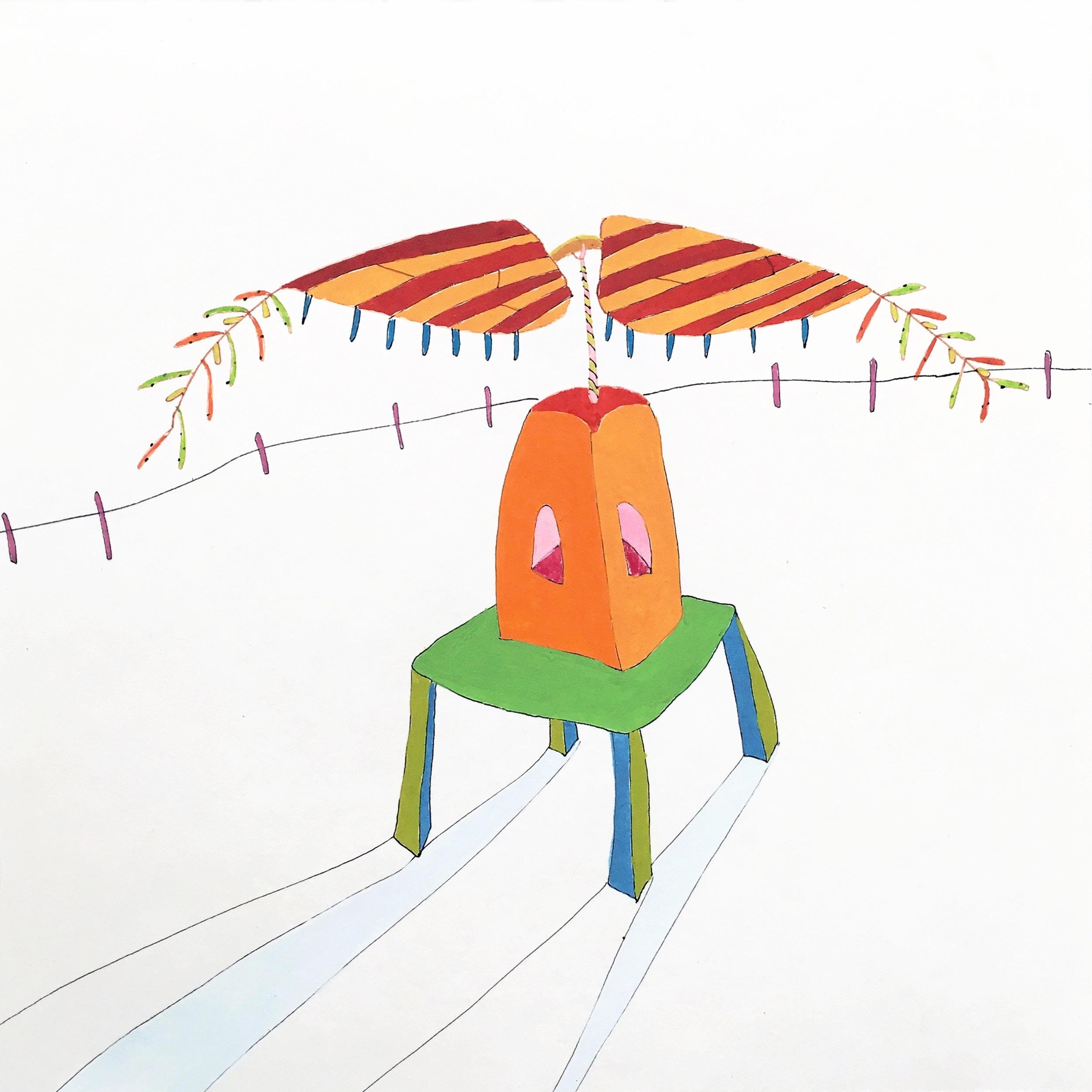 volando (sombras), 2017