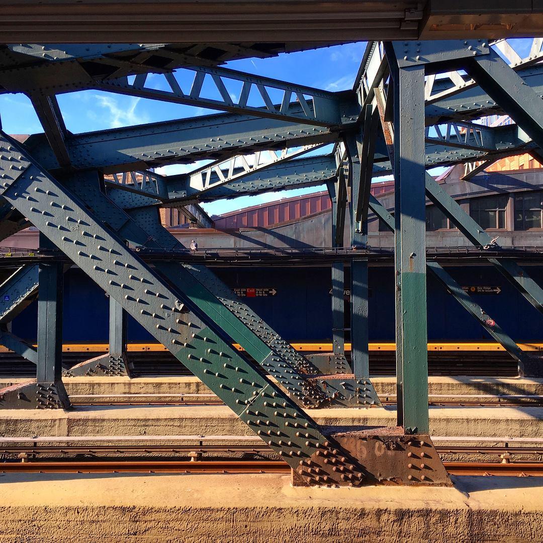 My shoe inspiration:4th Ave MTA platform, Brooklyn.