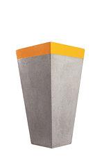 Colour highlights     tall square grc pot