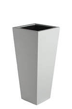 tapered square grc planter Painted Light Grey Finish