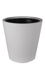 cone grc planter in light grey painted finish