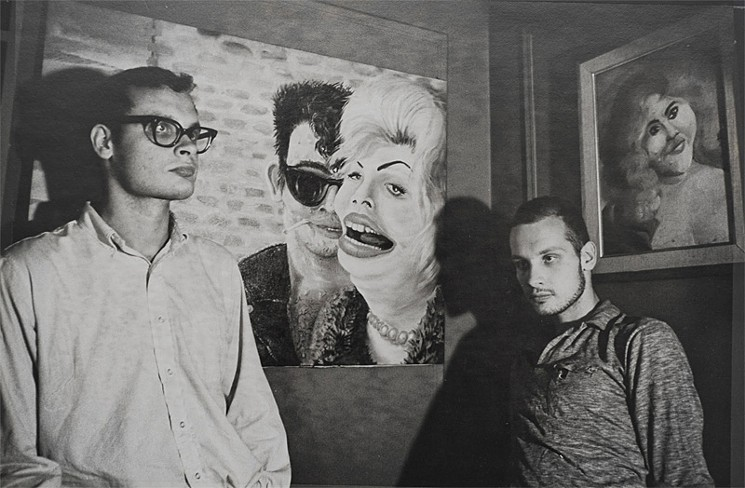 George and Mike with their paintings, circa 1965