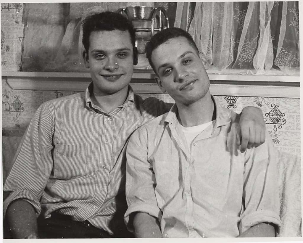 George (left) and Mike Kuchar in the 1950s. (Photo: Courtesy Pacific Film Archive)