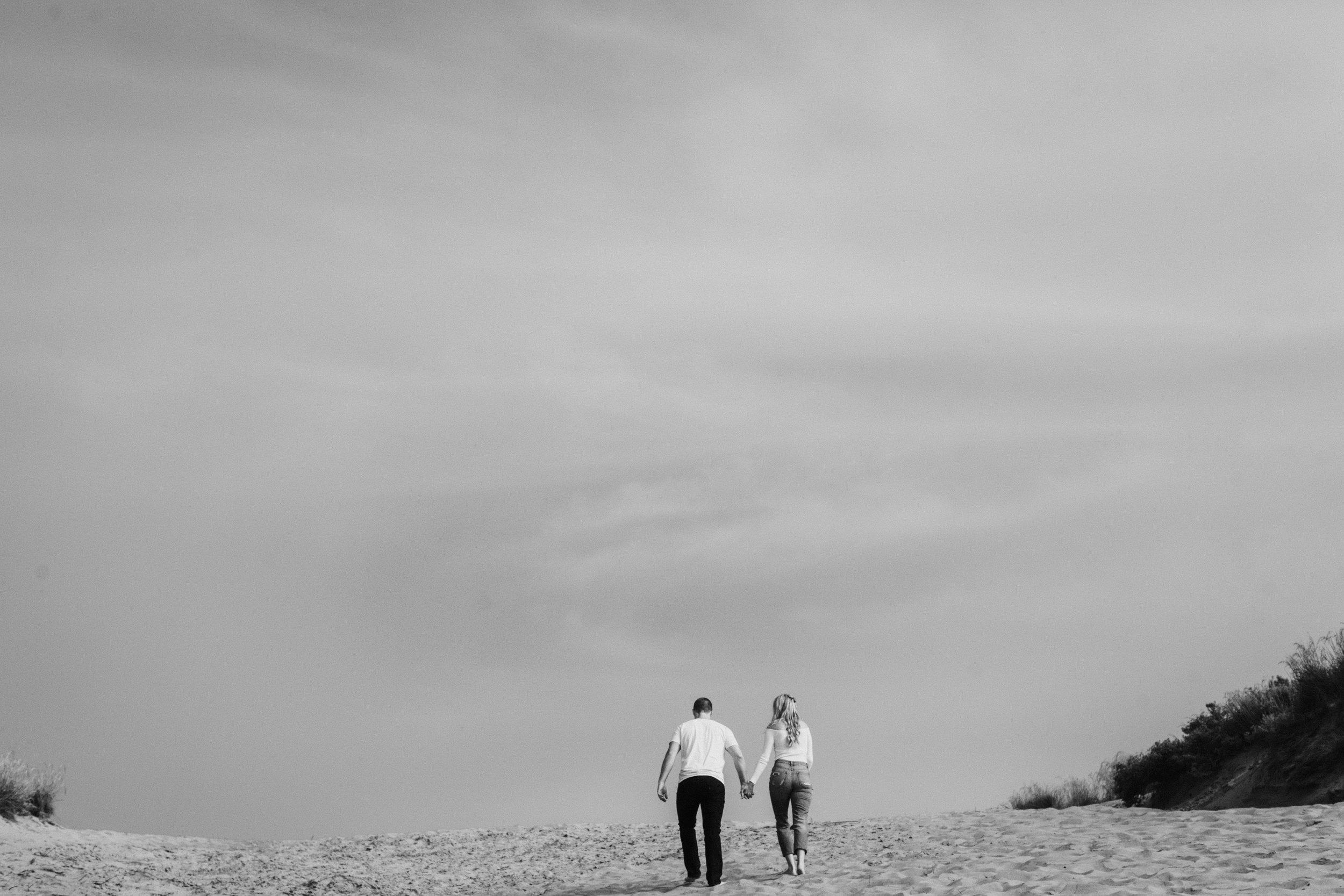 San Luis Obispo engagement moody dunes