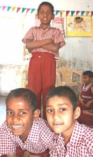 Laxman (left) and Badal, Mahesh (back)
