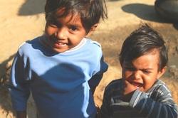 Daksha's little sister, Janki and a random baby