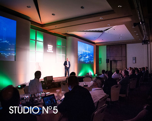 Corporate presentation – Siemens USA Corporation. Event photography in Scottsdale. Lighting helps for a dramatic look.
