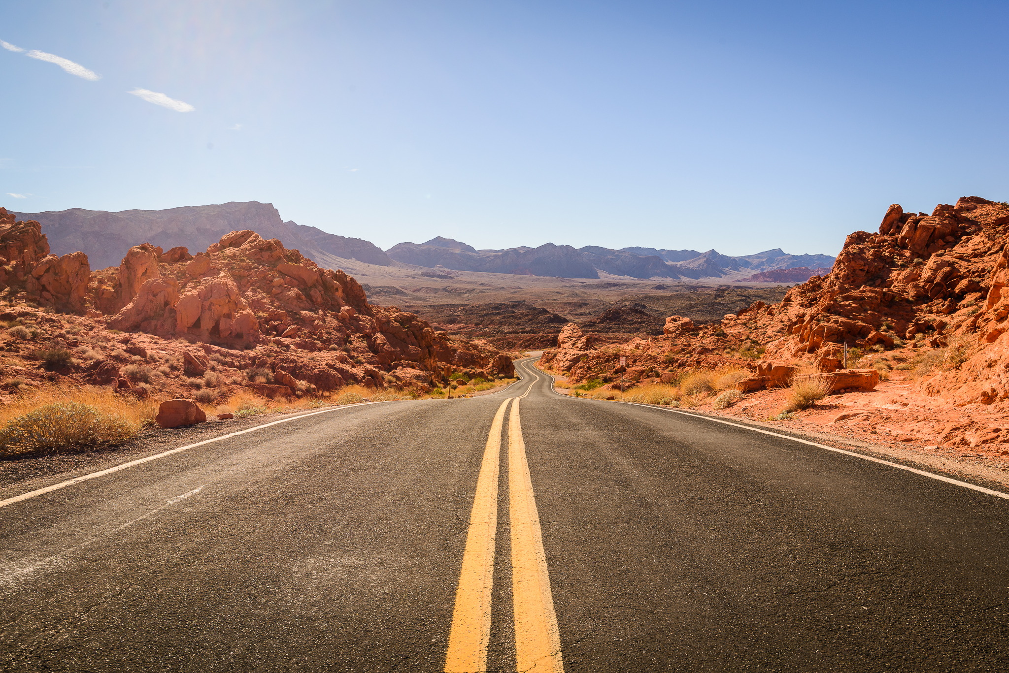 Road into the Valley of Fire