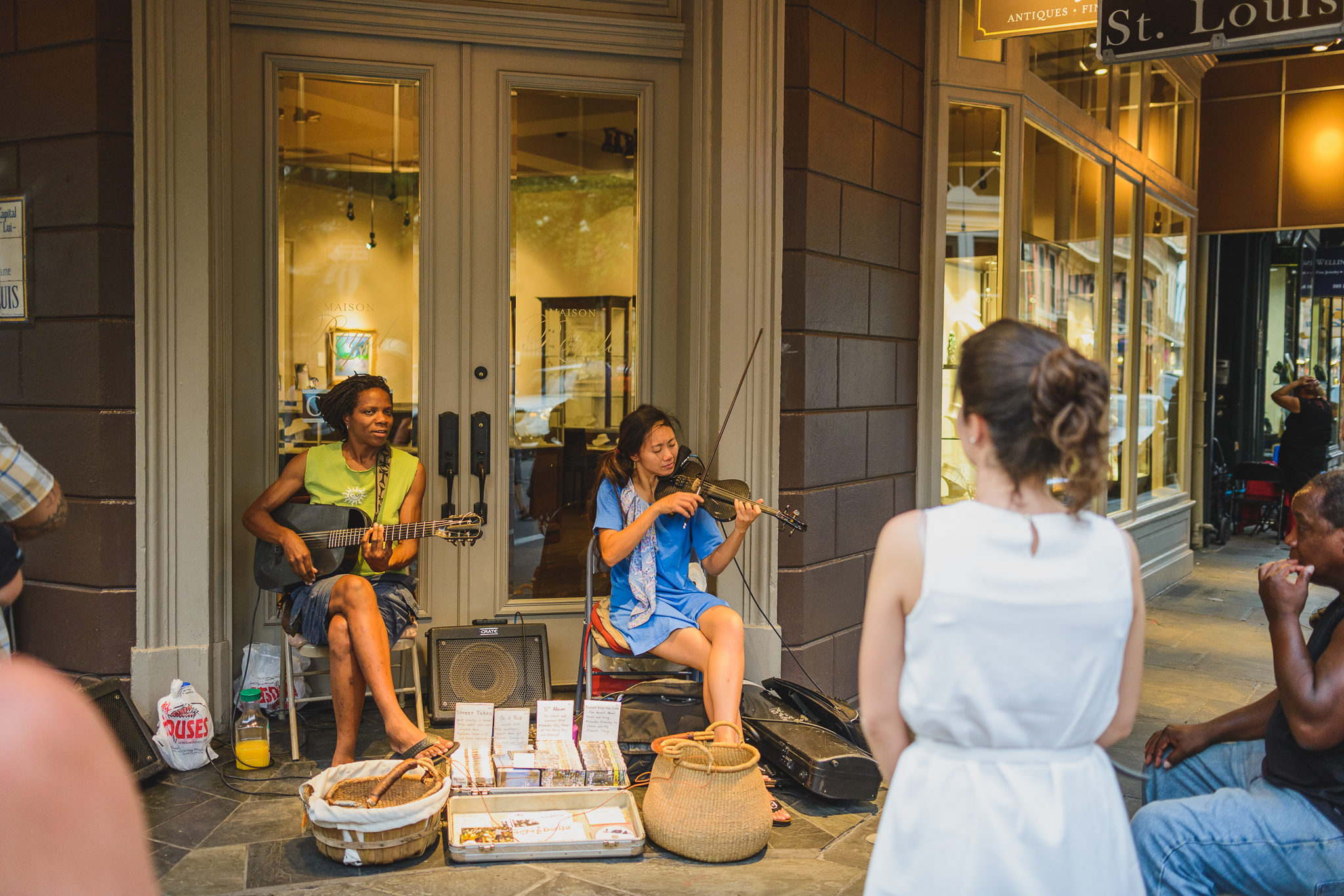 Musical performers in French Quarter