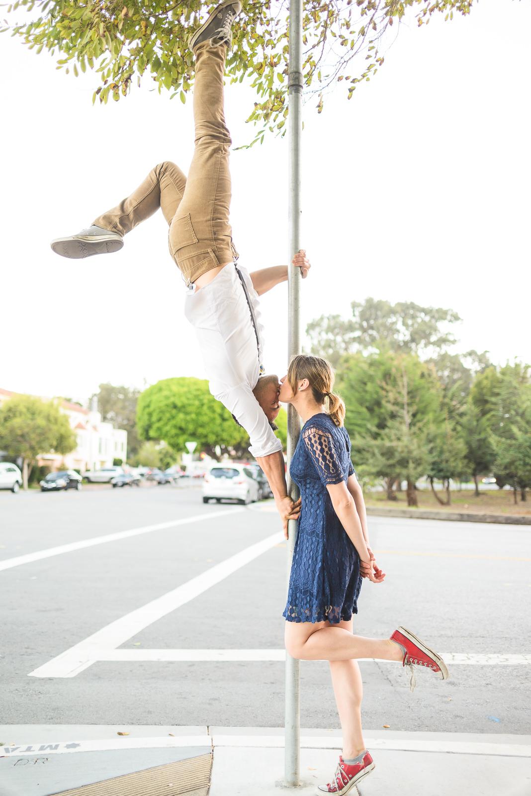 Acrobatic Kissing Photo