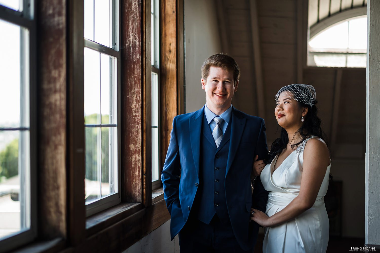Window light wedding portrait Bay Area wedding photography