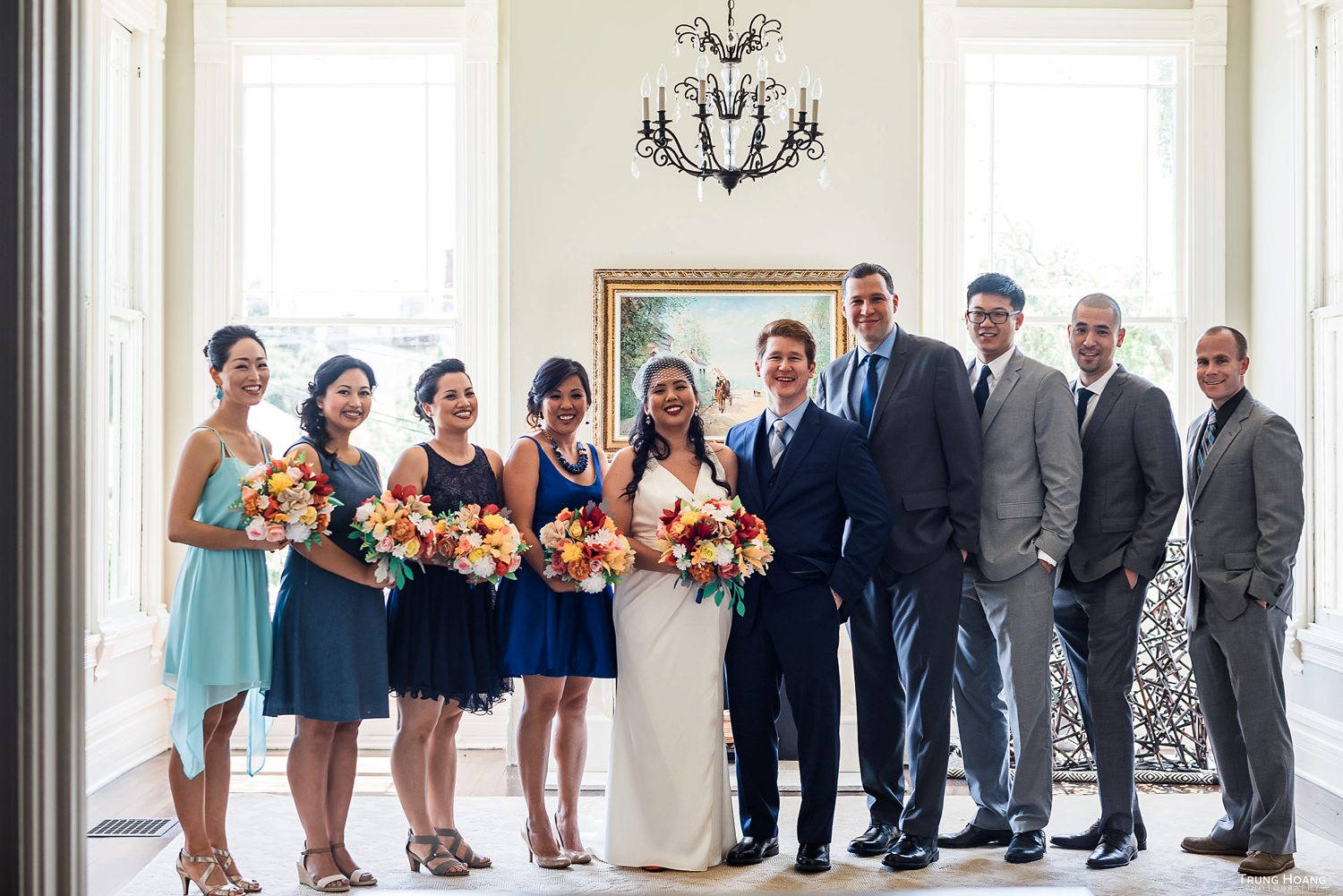 Historic home group portrait Oakland Wedding photography