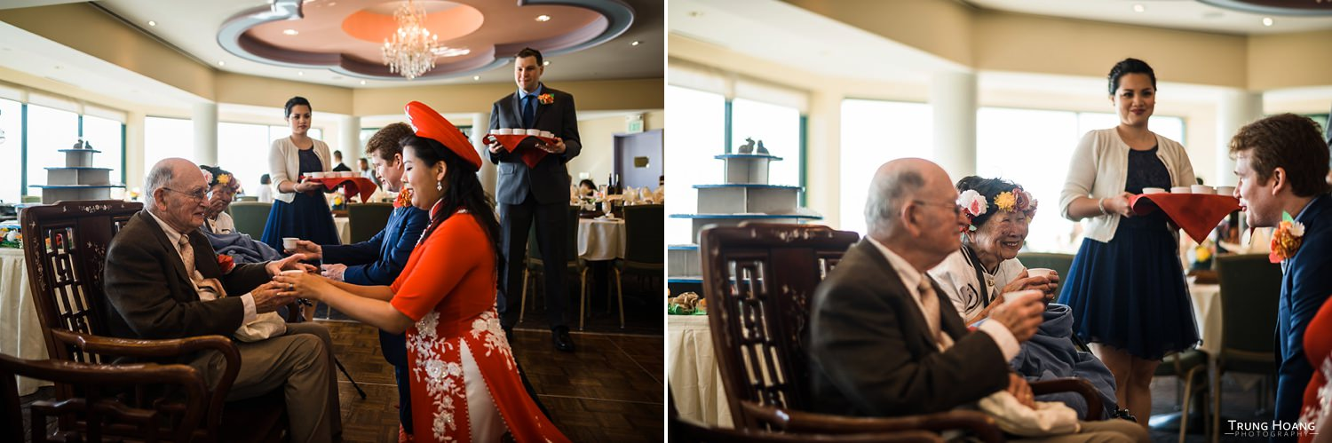 Chinese Tea Ceremony Hong Kong East Ocean Seafood Wedding