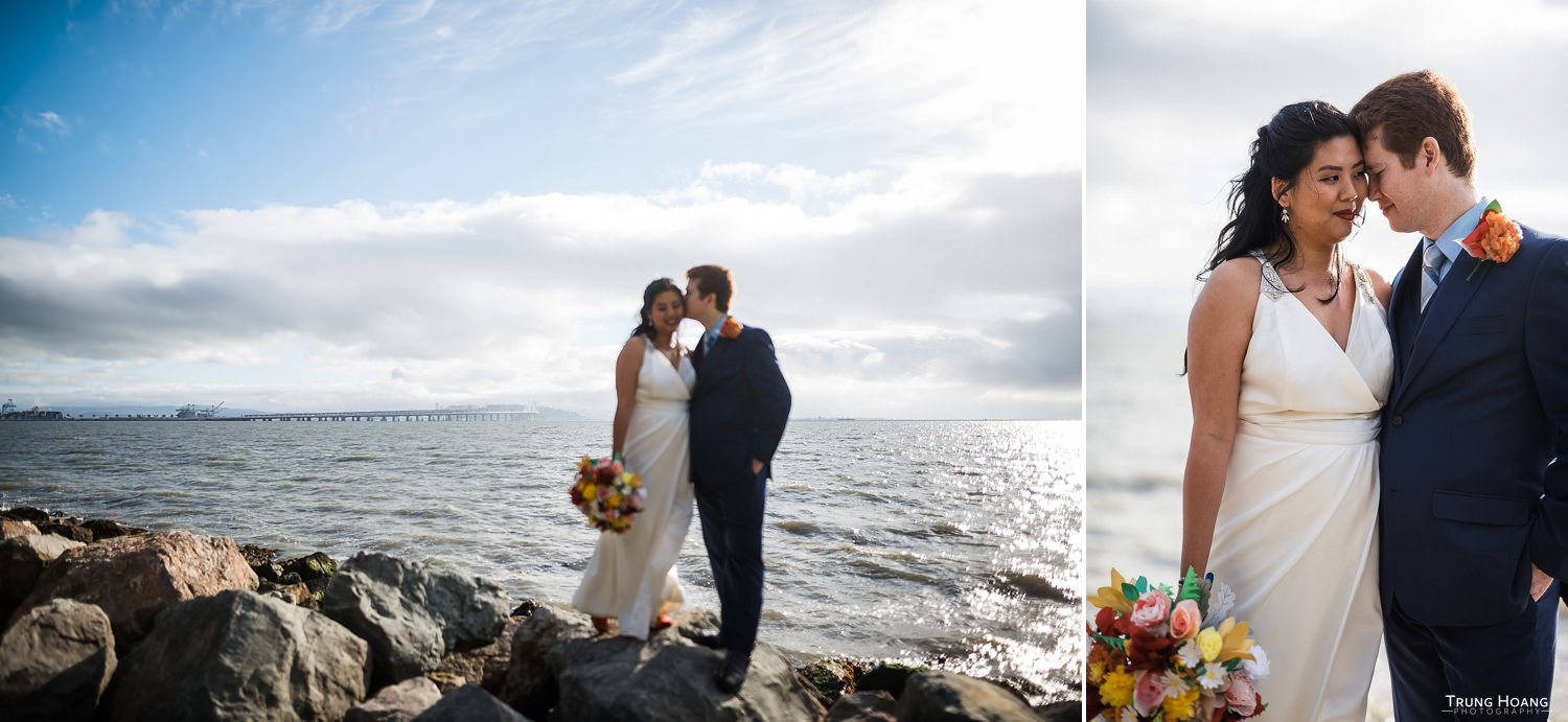Waterfront Wedding Portraiture San Francisco Bay Area