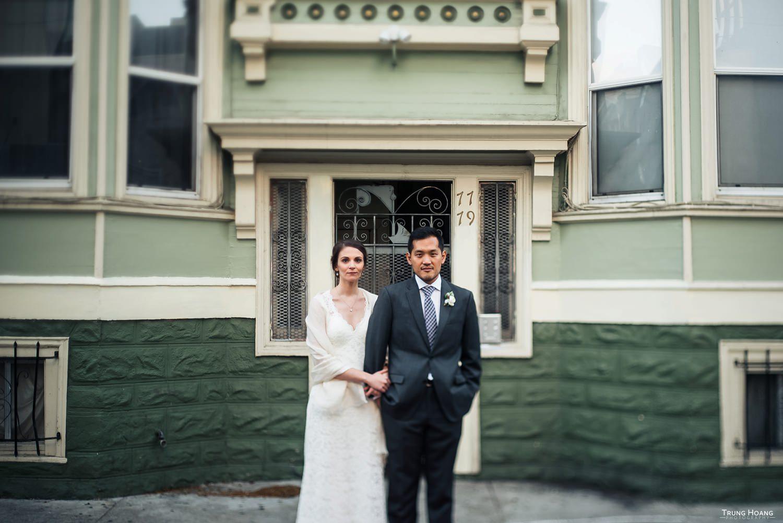 Urban wedding photoshoot