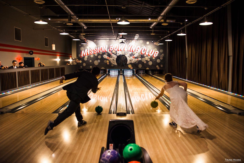 Mission Bowling Club Wedding First Bowl