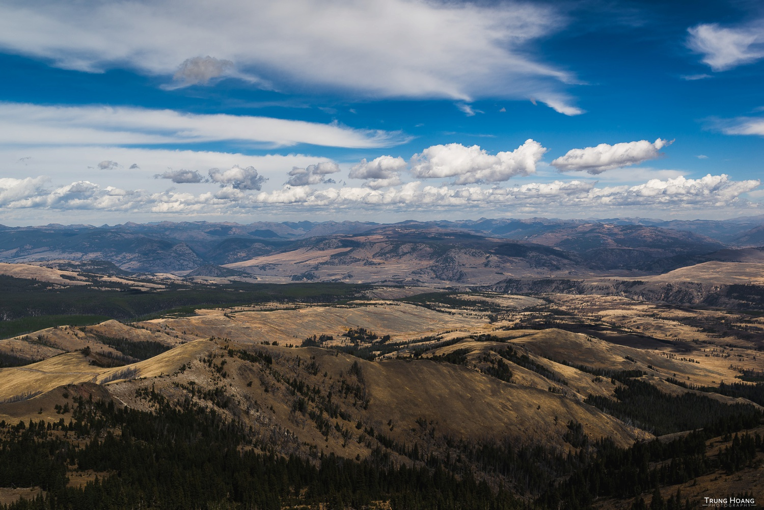 Yellowstone National Park from Mount Washburn