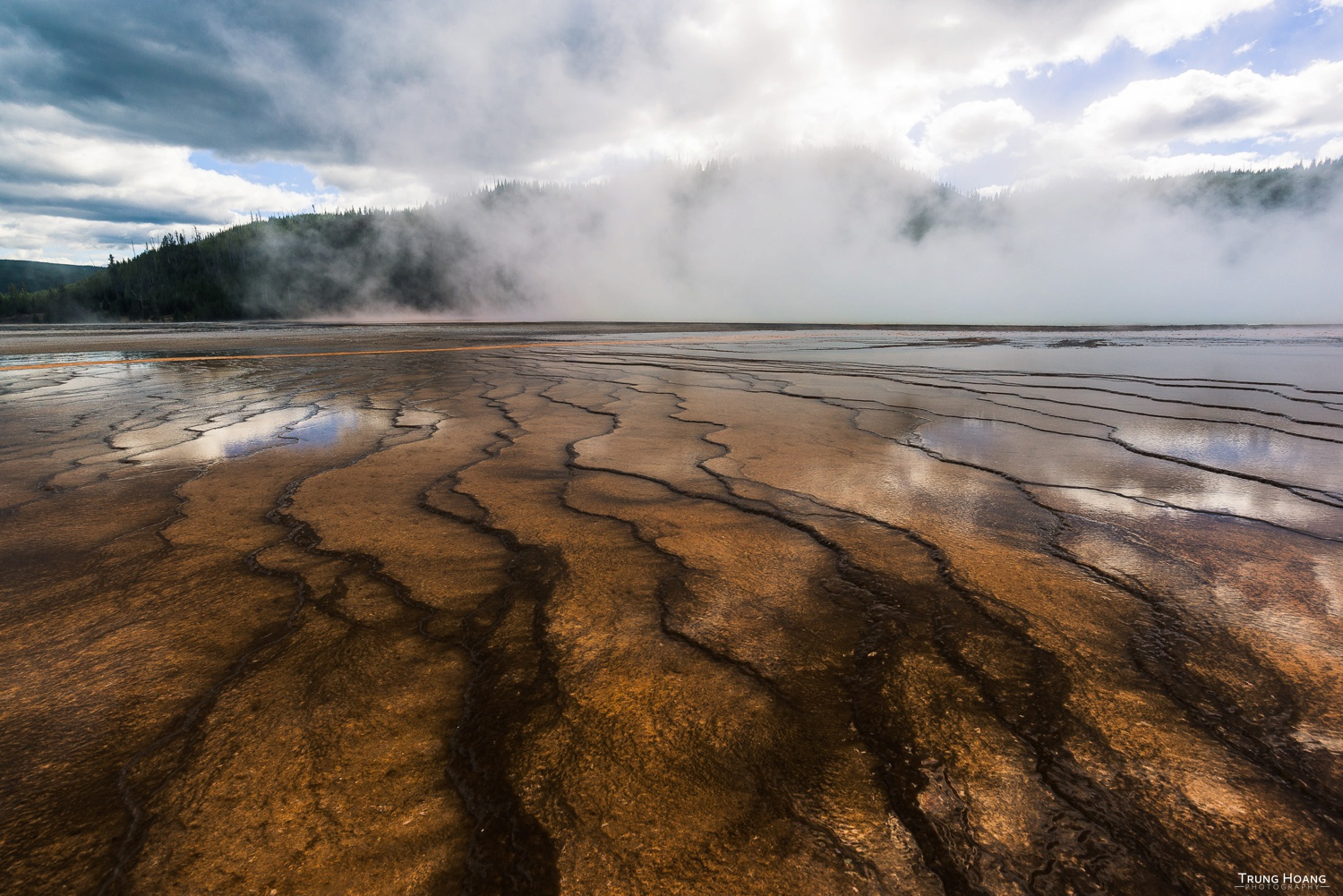 Textures of the Grand Prismatic Spring