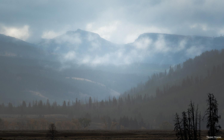 Blue Morning in Yellowstone