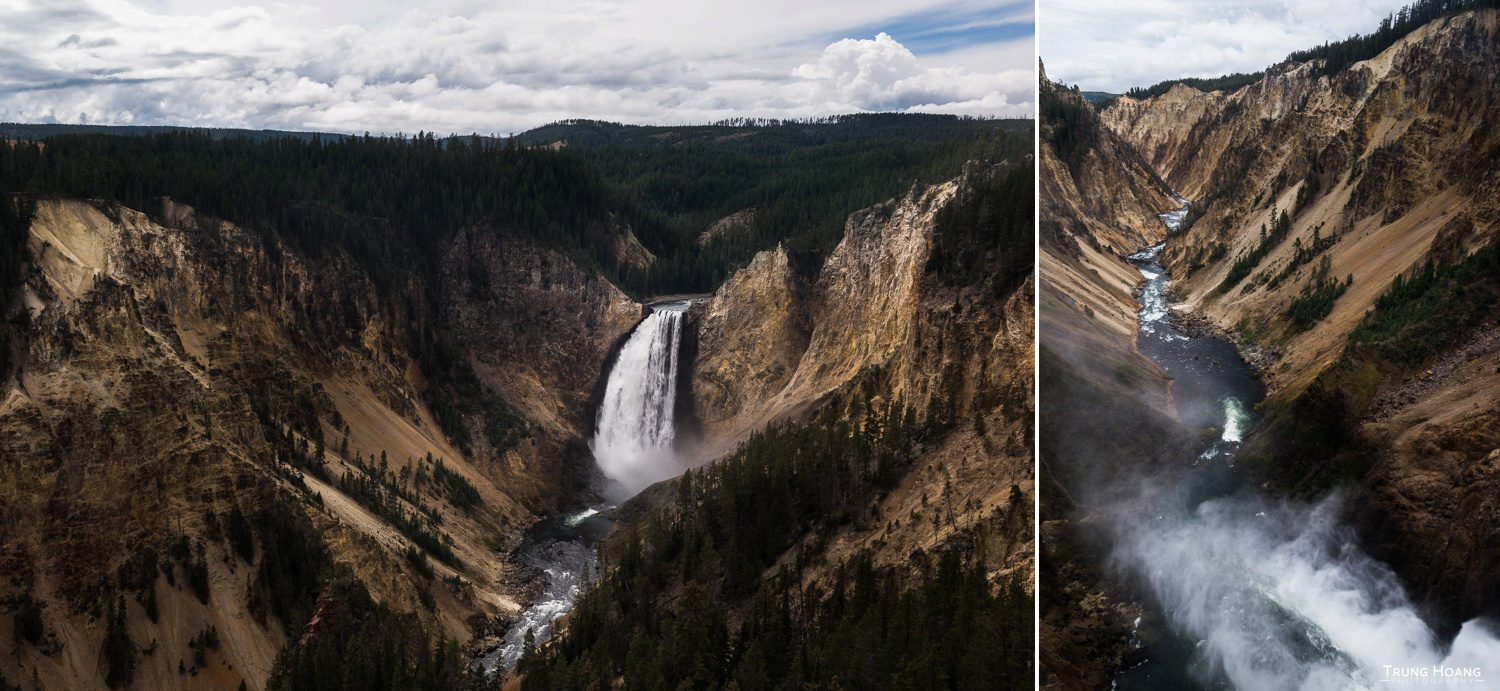 Lower Yellowstone Falls from Lookout Point