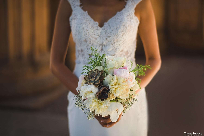 DIY Succulent Wedding Bouquet