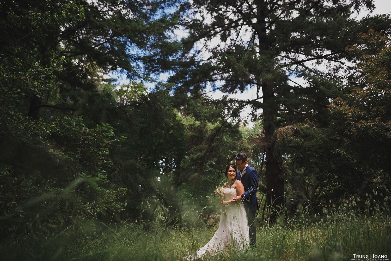 Couple in tall grasses portrait