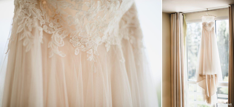 Wedding dress lace details