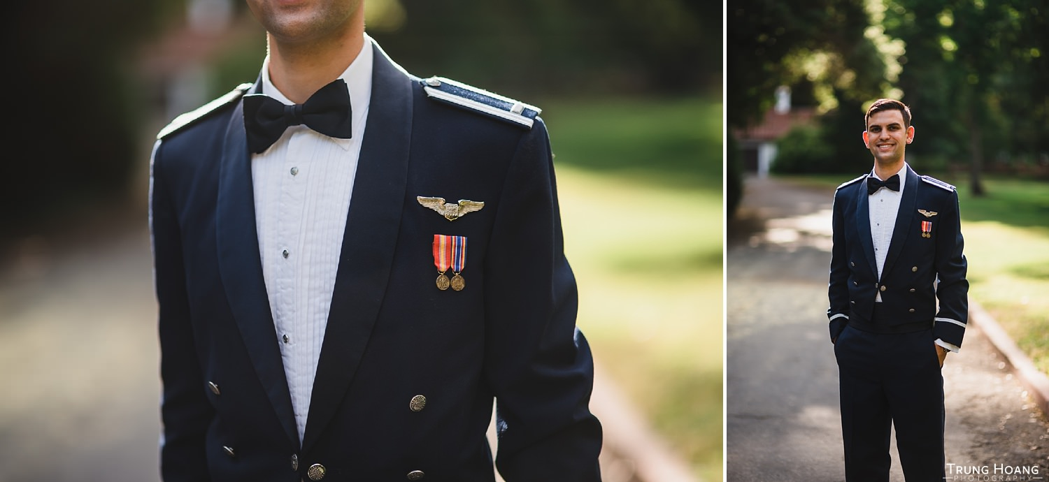 Solo Air Force groom portrait