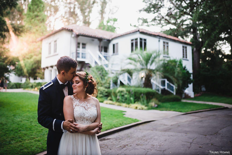 Backlit couples portrait
