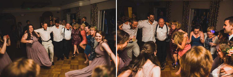 Wedding dancing line