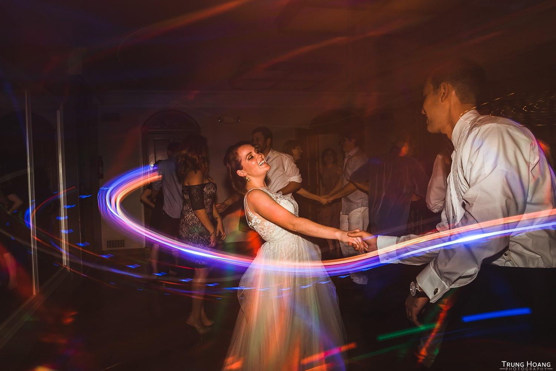 Shutter drag wedding dance floor