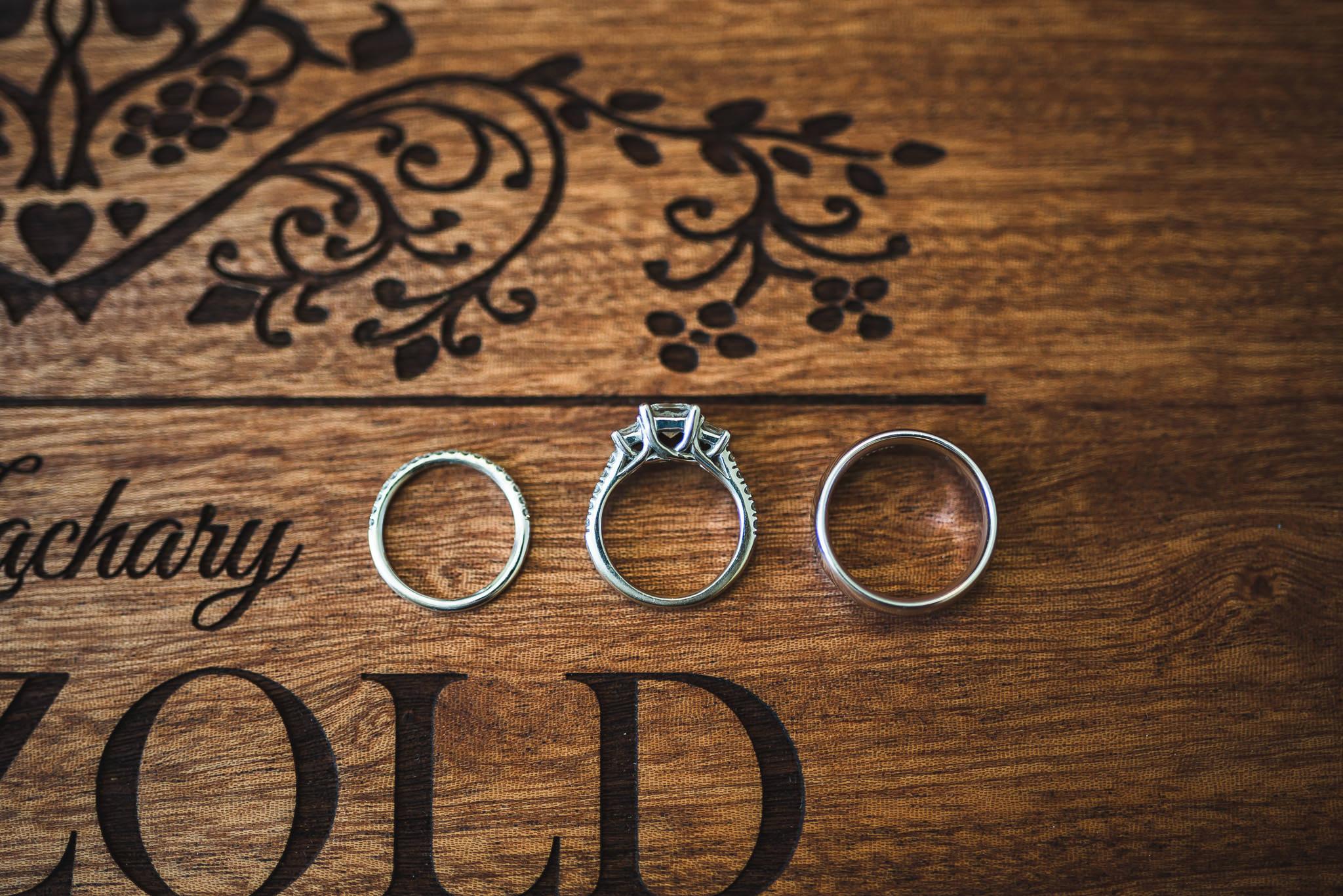 Flat lay Wedding Ring Photo