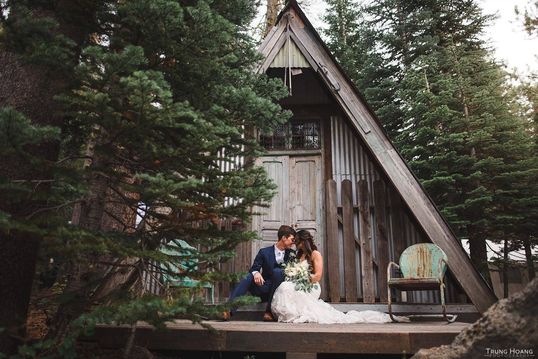 A-Frame Shed Couples Portrait
